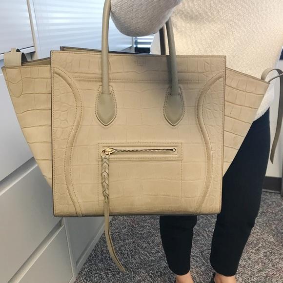 91ae2edf3c Celine Handbags - CELINE PHANTOM BAG IN CROC EMBOSSED SKIN MEDIUM